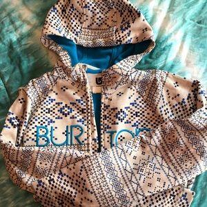 Burton hooded zip-up jacket